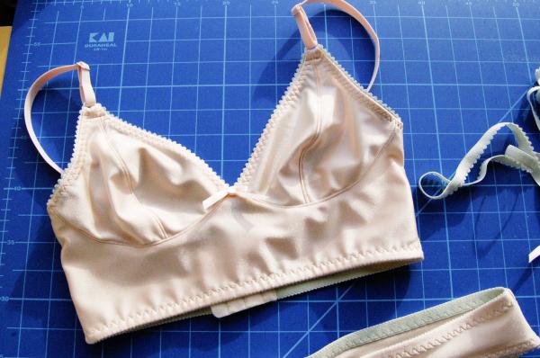 cloth habit watson bra in peach and mint, bra