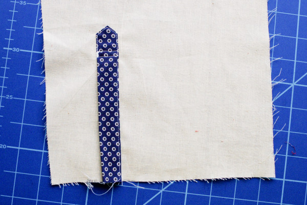 granville placket - finished tower placket closed