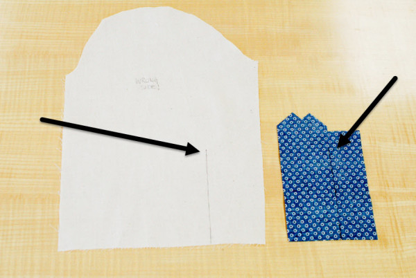 granville placket - sewing the tower placket 1