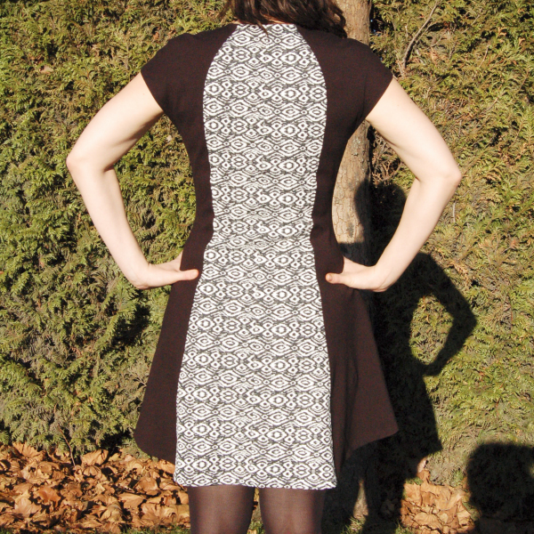 davie dress in black and white print 3