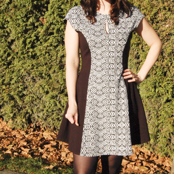 davie dress in black and white print 4