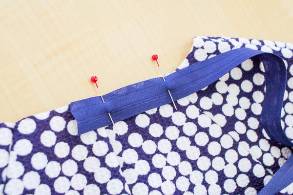 how to sew the davie dress neckline-3