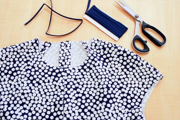 how to sew the davie dress neckline