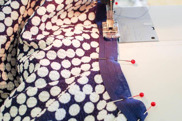 how to sew the davie dress neckline-8