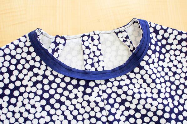 how to sew the davie dress neckline-9