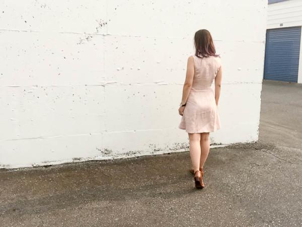 bleuet shirt dress in pale pink linen-1-10