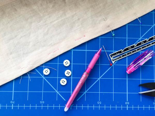 bleuet shirt dress in pale pink linen-1-2
