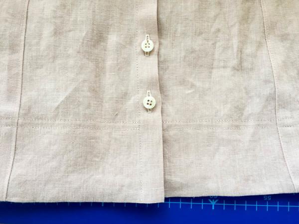 bleuet shirt dress in pale pink linen-1-4
