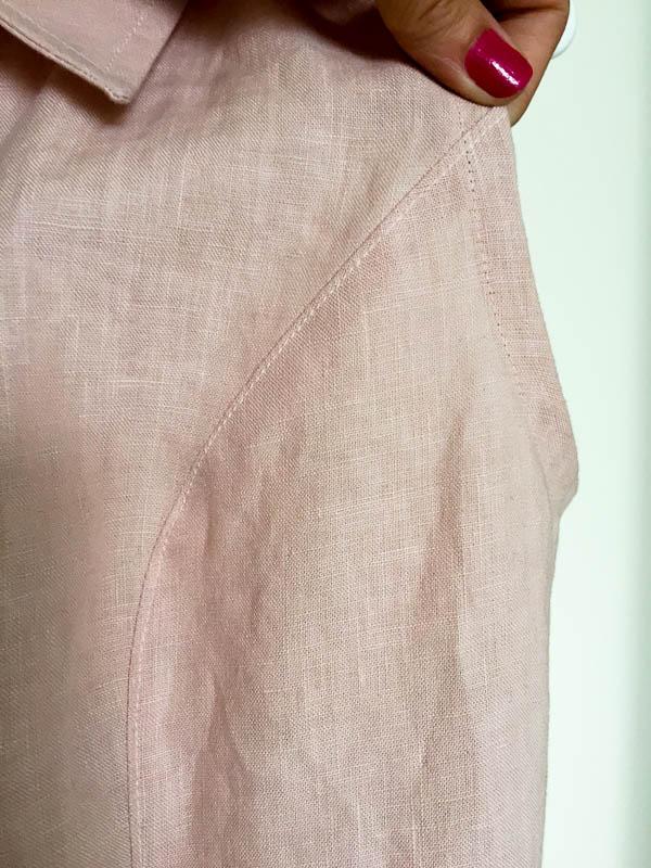 bleuet shirt dress in pale pink linen-1-5