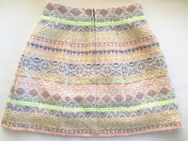 lime and neon coral stripe anemone skirt-10