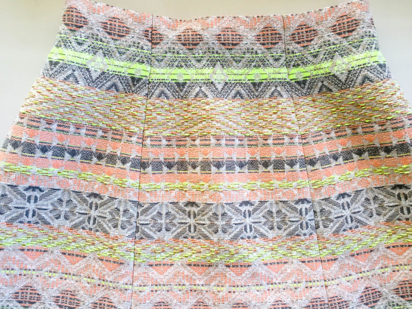 lime and neon coral stripe anemone skirt-8