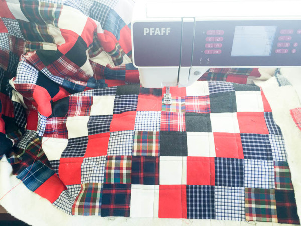 quilt made with old plaid shirts-1-10