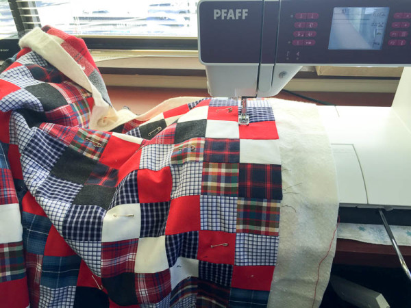quilt made with old plaid shirts-1-12