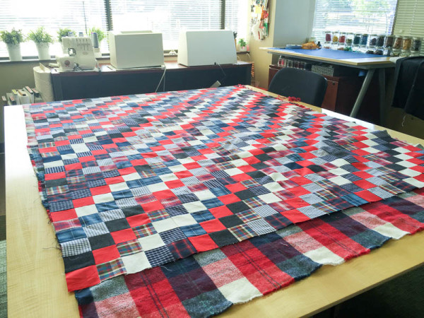 quilt made with old plaid shirts-1-13