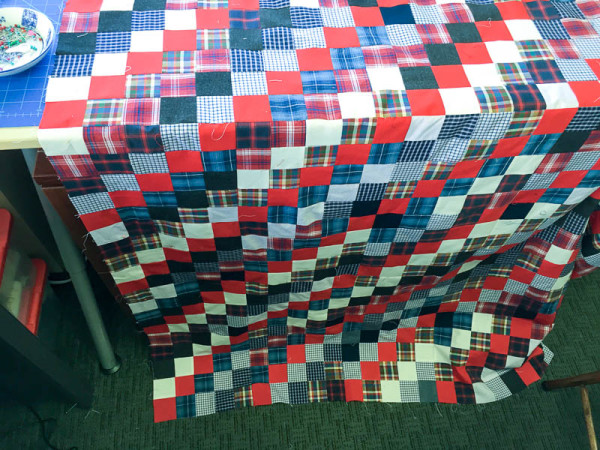 quilt made with old plaid shirts-1-14