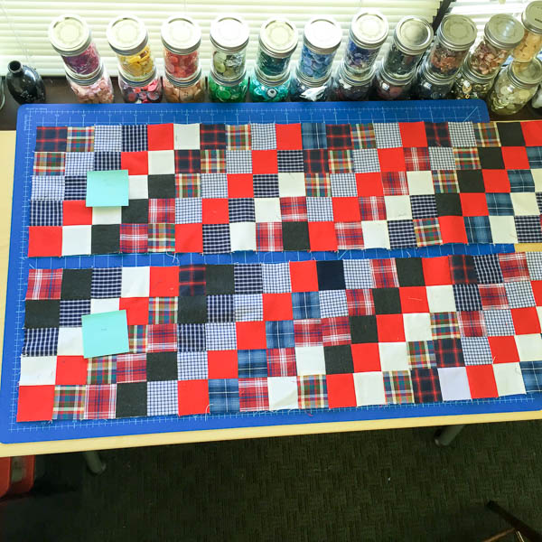 quilt made with old plaid shirts-1-15