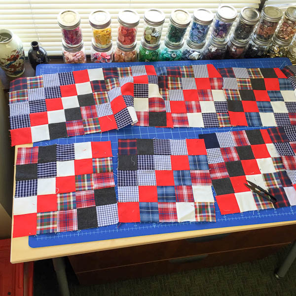 quilt made with old plaid shirts-1-16