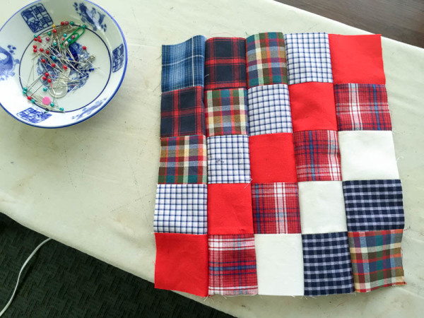 quilt made with old plaid shirts-1-18