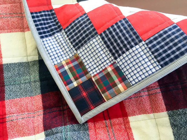 quilt made with old plaid shirts-1-23