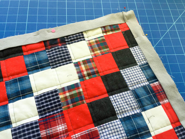 quilt made with old plaid shirts-1-7