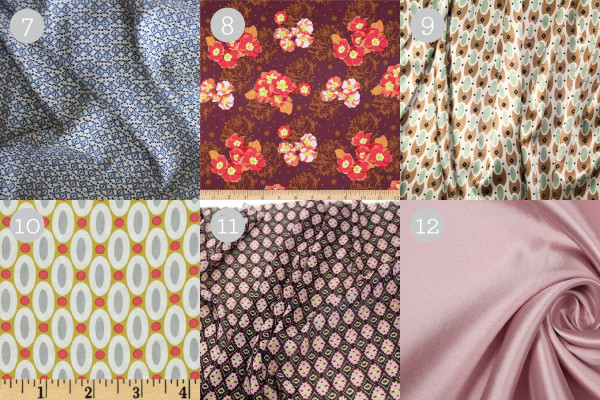 Suggested Nicola Fabrics