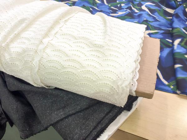 black wool tweed and blue print cotton-2