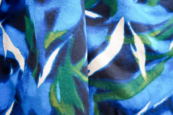 blue cotton floral pique-1