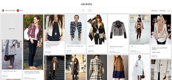 jackets inspiration board