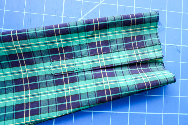 sleeve placket plaid matching on the plaid granville shirt-1-12
