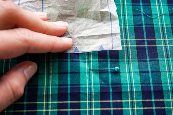 sleeve placket plaid matching on the plaid granville shirt-1-2